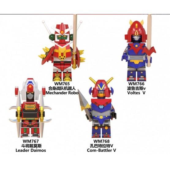 Mini Super Robot figure set of 4 (Part 1)