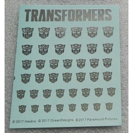 Logo Sticker  Autobot Metallic Silver (Water Decal)