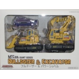 Maketoys - Giant - Set Set A - Bulldozer & Excavator - Yellow Version