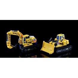 Maketoys - Giant - Set Set A - Bulldozer & Excavator - Yellow Version