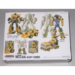 Maketoys - Giant - Set C - Front End Loader & Mixer - Yellow Version