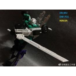 DR WU - DW-P31 - NINJA - Set of Swords & Weapons