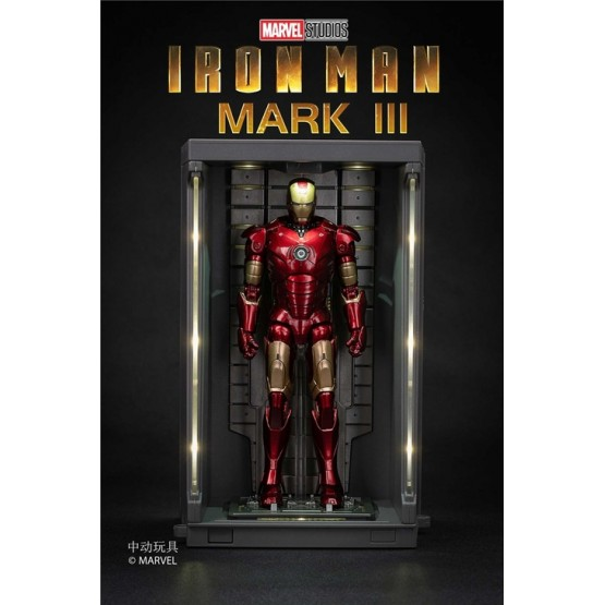 Zd toys Marvel Iron man MK3 with LED Base 19cm height (Licensed)
