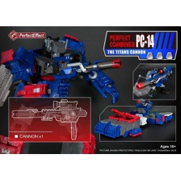 Perfect Effect  PC-14 COMBINER UPGRADE CANNON FOR TITANS RETURN FORTRESS MAXIMUS