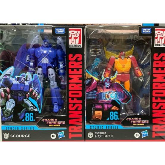 Hasbro Transformer Studio Series The Movie 86 Hot Rod + Scourge