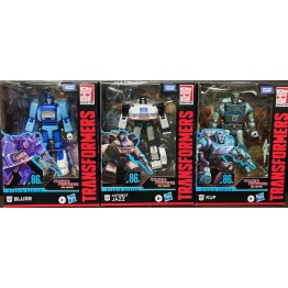 Hasbro Transformer Studio Series The Movie 86 Jazz + kup + Blurr