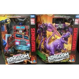 Hasbro Transformers Kindgom WFC-K10 Megatron BW + WFC-K11 Optimus Prime