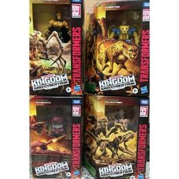 Hasbro Transformers Kingdom Warpath + Blackarachnia + Cheetor + Paleotrex