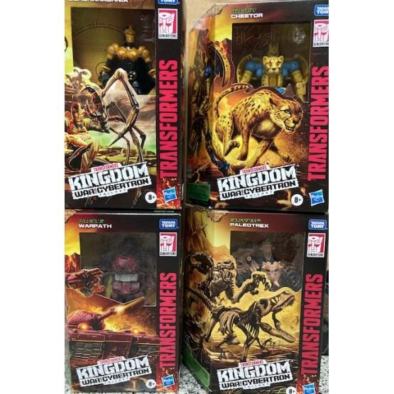 Hasbro Transformers Kindgom Warpath + Blackarachnia + Cheetor + Paleotrex