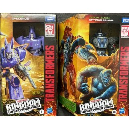 Hasbro Transformers Kindgom WFC-K8 Optimus Primal + WFC-K9 Cyclonus