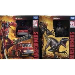 Hasbro Transformers Kingdom  WFC-K18 Dinobot + WFC-K19 Inferno
