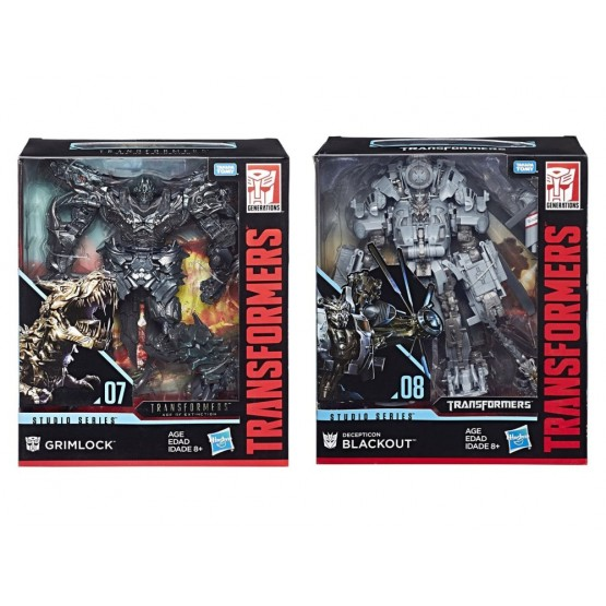 Hasbro Transformers Studio Series Grimlock + Blackout