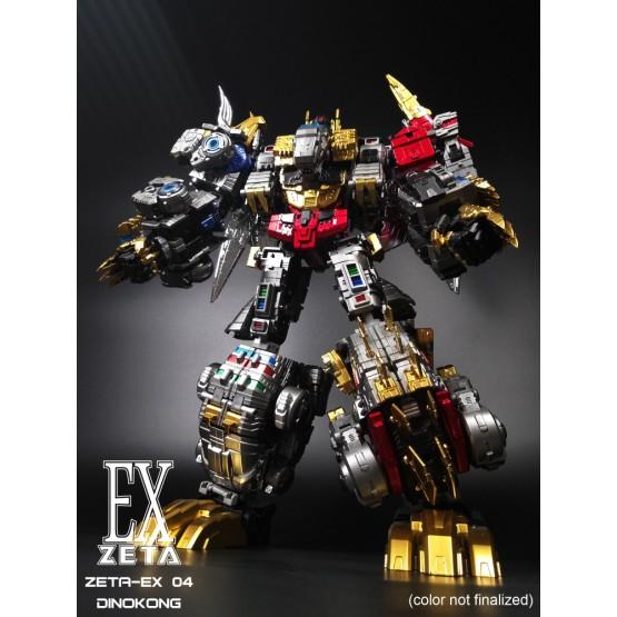 Zeta Toys - EX-04 Dinokong - Dino Combiner - Metallic Set of 5 (Rerun)