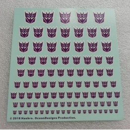 Logo Sticker Decepticon  White Background