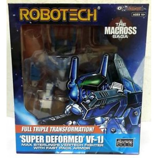 KITZ CONCEPT  Robotech SD (Super-Deformed) Macros VF-1J Max  (Blue)