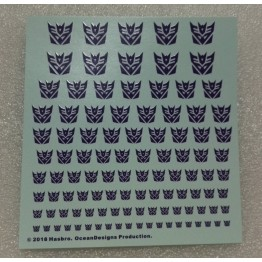 Logo Sticker Decepticon  White Background  (Animate Ver)