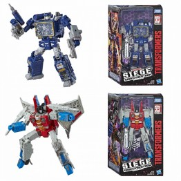 Transformers Siege Starscream + Soundwave Voyager Class  Set of 2