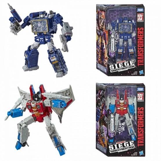 Transformers Siege Starscream + Soundwave Voyager Class  Set of 2