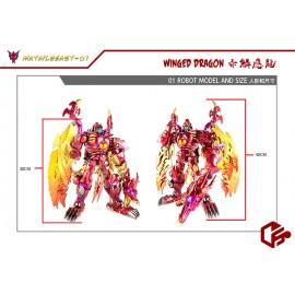 Jiangxing JX-MetalBeast-01 Winged Dragon (2021 Rerun)