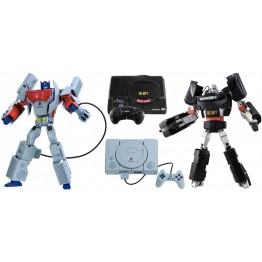 TakaraTomy Playstation Optimus Prime + SEGA 16-Bit Megatron