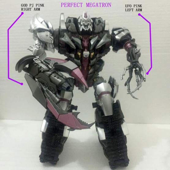 GOD PJ01 Mega Arm  Right Hand (Purple)+ UFO UP-2 Mega