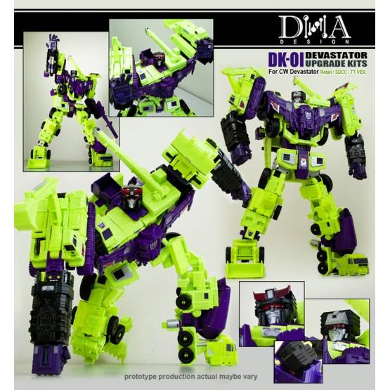 DNA DK-01 IDW Devastator upgrade kit (Rerun)