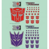 Transformers Logo Sticker Set