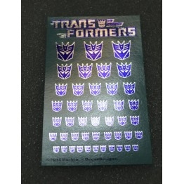 Logo Sticker  Decepticon Metallic Silver ground (Water Decal)