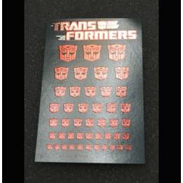 Logo Sticker Autobot Metallic Transparent ground (Water Decal