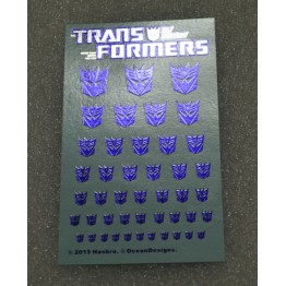 Logo Sticker Decepticon Metallic Transparent ground (Water Decal
