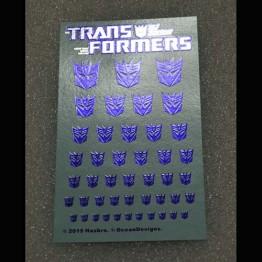 Logo Sticker Decepticon Metallic Transparent ground (Water Decal