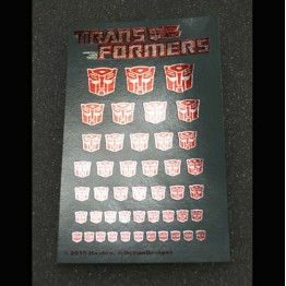Logo Sticker Autobot  Metallic Silver ground (Water Decal)