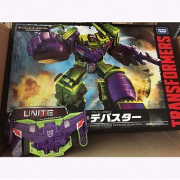 TarakaTomy Transformers Unite Warriors - UW-04 - Devastator with coin and sticker