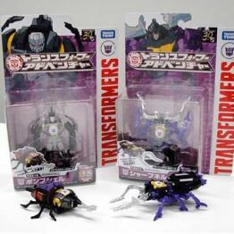 TakaraTomy Transformers Adventure TAV-16 Bombshell & TAV-17 Shrapne