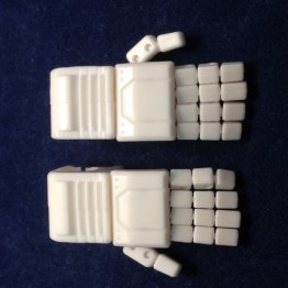 KFC- KP-14W posable hands for MP-11sunstorm(White)