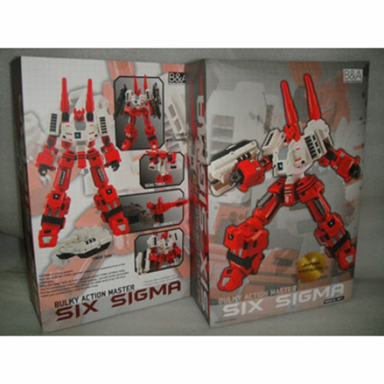 Before & After Six Sigma - Red Arms for Takara Ver