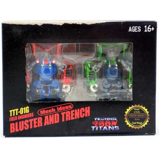 Mech Ideas  TTT-01G Bluster and Trencht  Mario TFcon