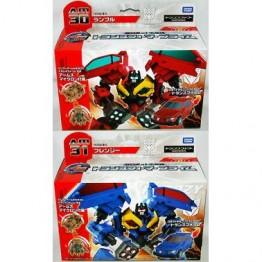 TakaraTomy Transformers Prime AM-30 31 RUMBLE + FRENZY