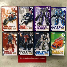 Action Toys  Machine Robo  MR 01 - 08  Set of 8