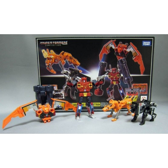 Takara Transformers Masterpiece MP-15E/16E - Cassettebot  vs Cassettron Exclusive