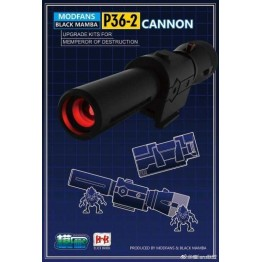 MODFANS Black mamba P36-2 Cannon (Voice w/ LED) - Upgrade Kit for MP36 Megatron