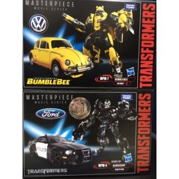 Hasbro Transformers MP Movie Series MPM-5 Barricade +  MPM-7 Bumblebee