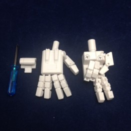 KP-09 Posable hands for MP24 STARSABER(white)