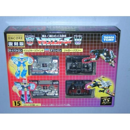 Takaratomy Transformers G1 Encore 15 Cassettes Vol1