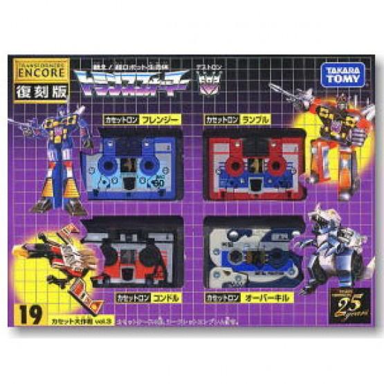 TakaraTomy Transformers G1 Encore 19 Cassettes Vol 3