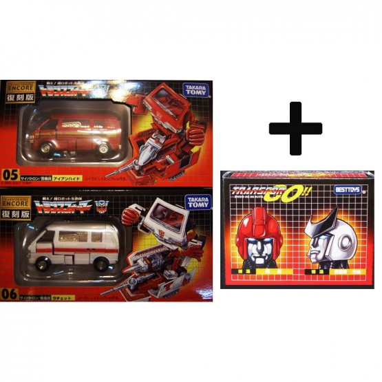 TakaraTomy  Transformers G1 ENCORE 05 06 Ratchet Ironhide + Head set