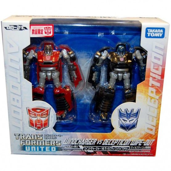 TakaraTomy Transformers United Windcharger vs Decepticons Wipeout